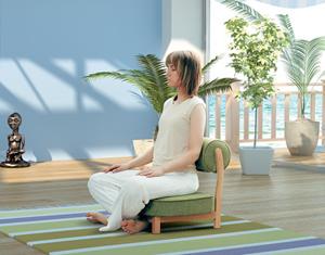 кресло для медитации в интерьере
