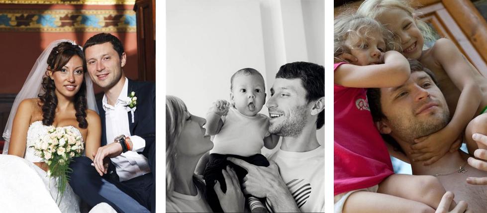 Дмитрий Шаменков и семья
