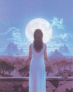 луна и женщ8