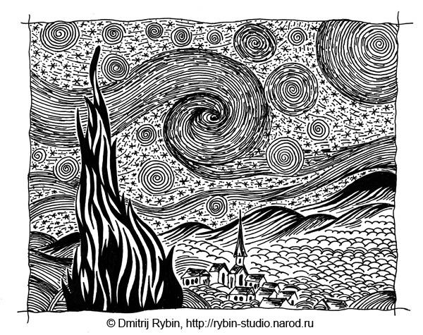 Медитативная графика Дмитрия Рыбина